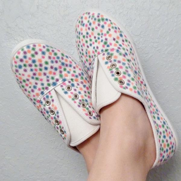 confetti sneakers