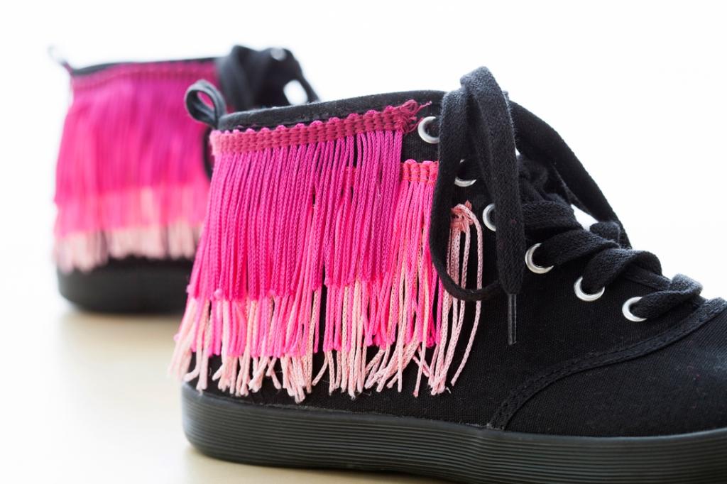 fringe sneakers