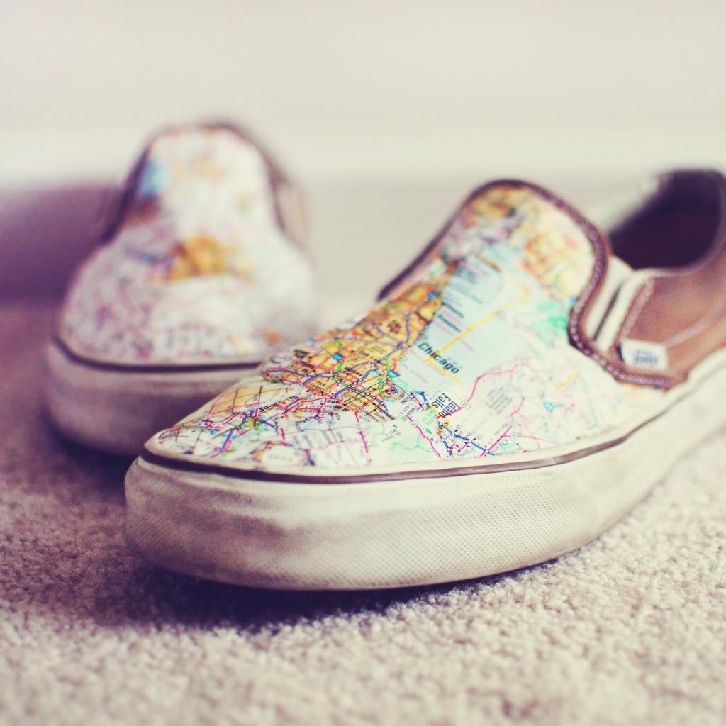 map sneakers