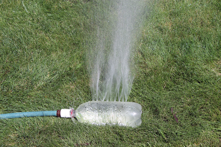 plastic bottle sprinkler
