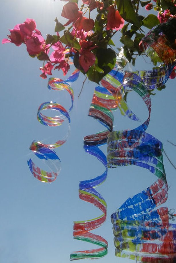 plastic bottle wind spinners