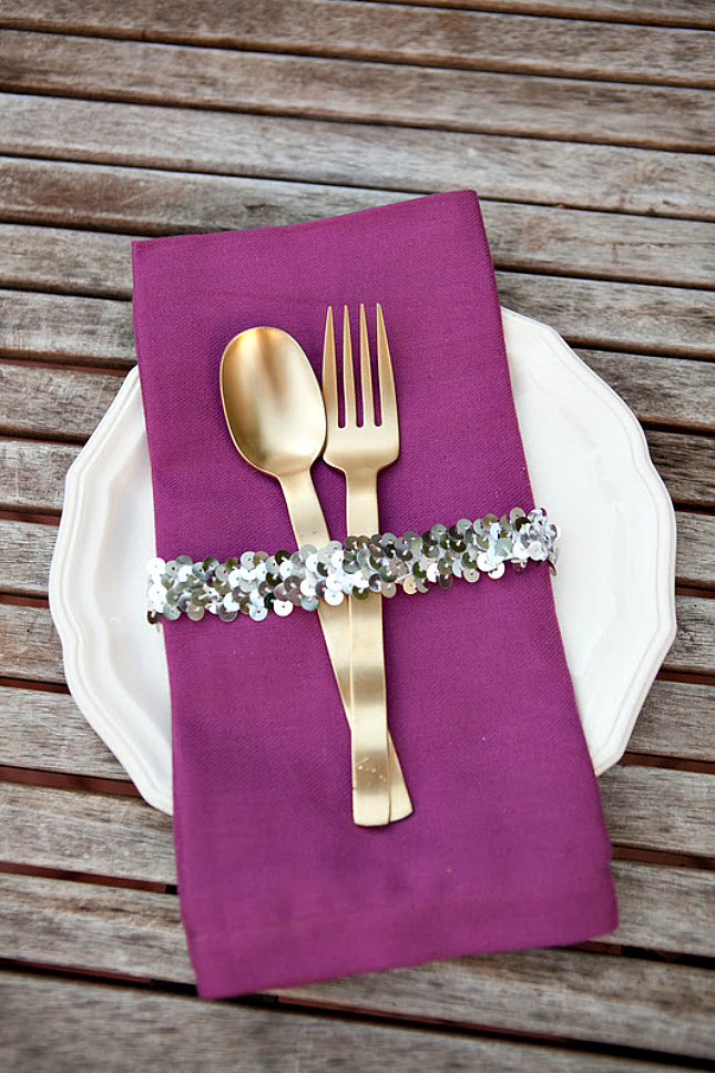 sequin napkin ring