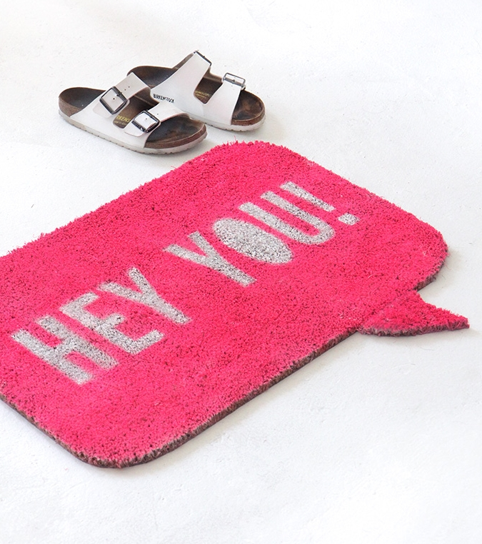 speech bubble doormat