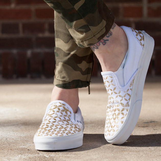 stenciled sneakers