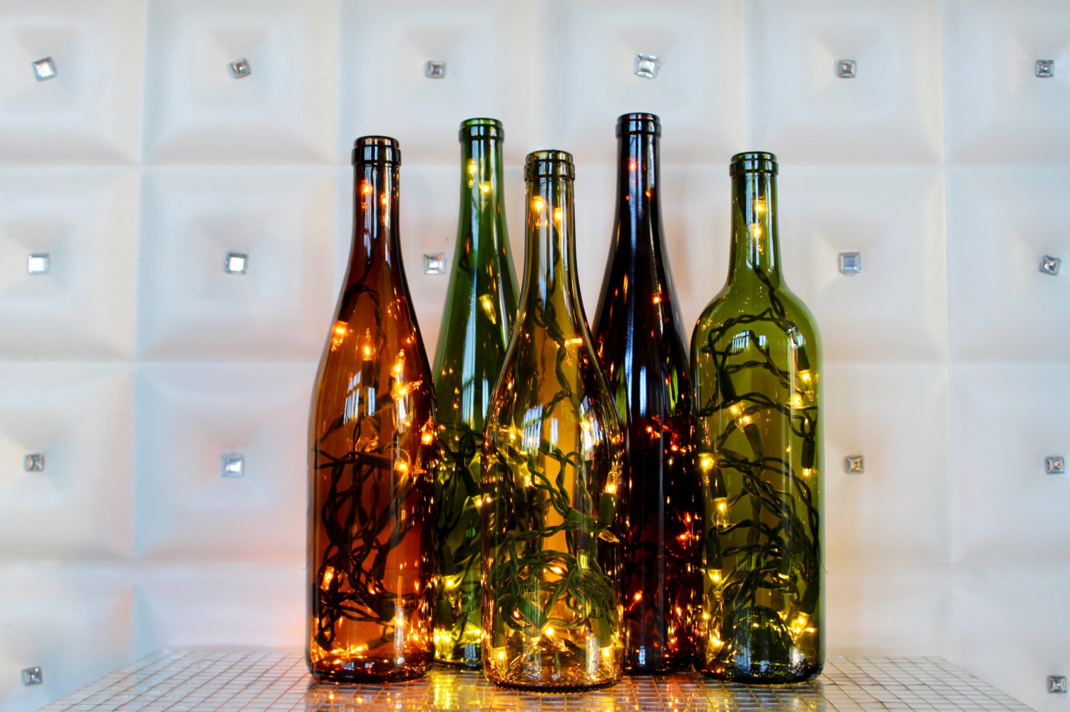string light bottles