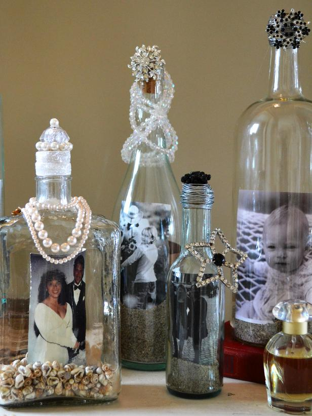 wine bottle photo frames