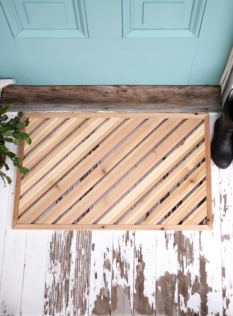 wooden slat doormat