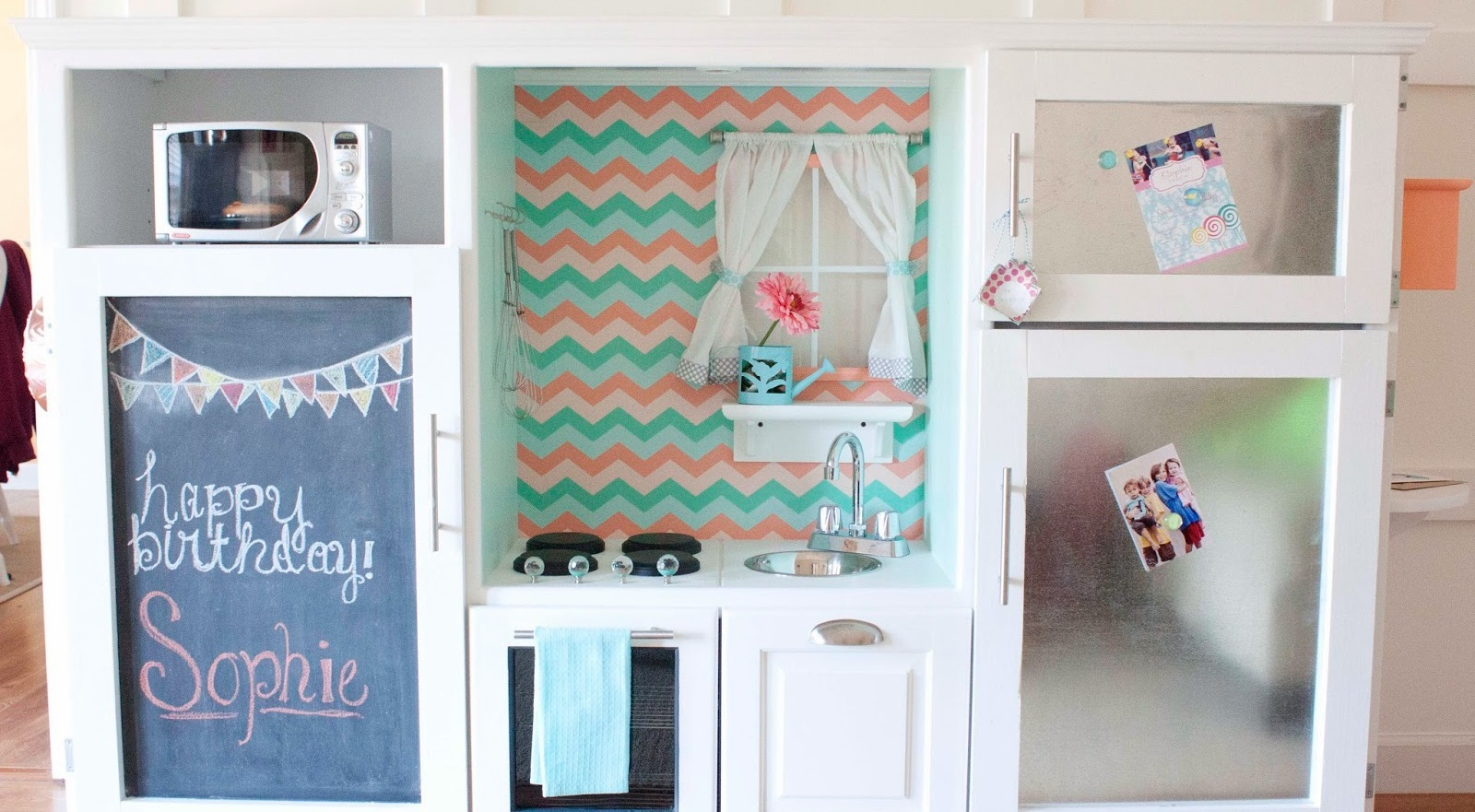 Entertainment Center to Playroom Kitchen