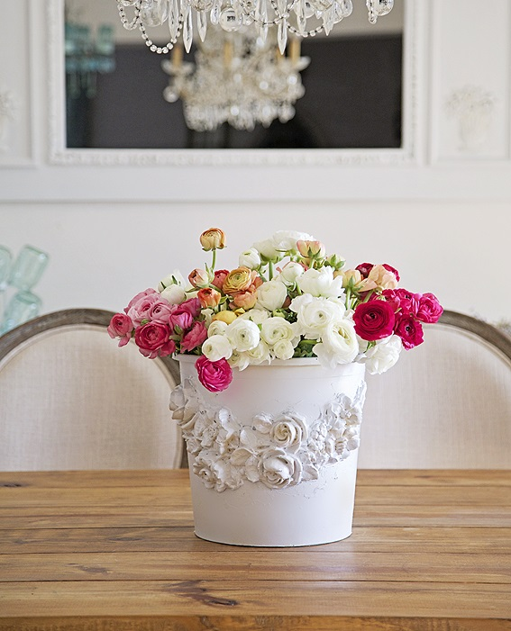 Florist Bucket to Romantic Vase