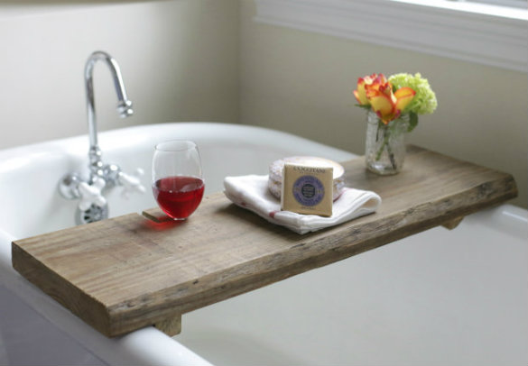 Reclaimed Board to Bathtub Tray