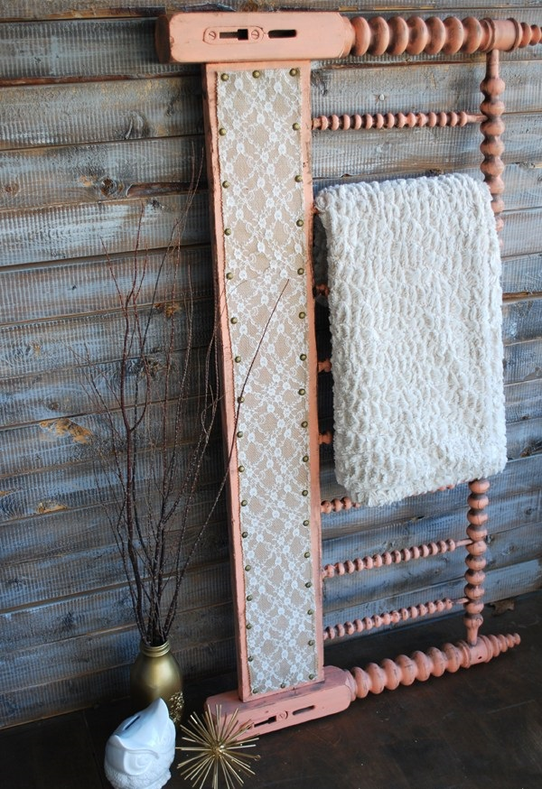 Spindle Headboard to Quilt Rack