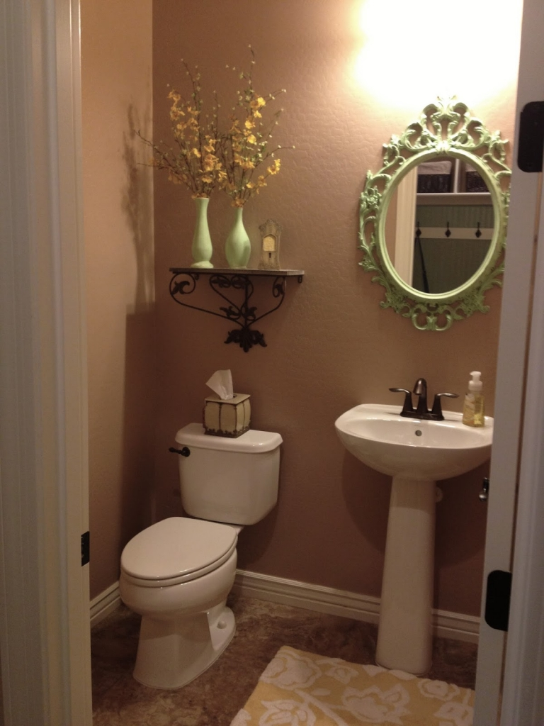 beige bathroom before