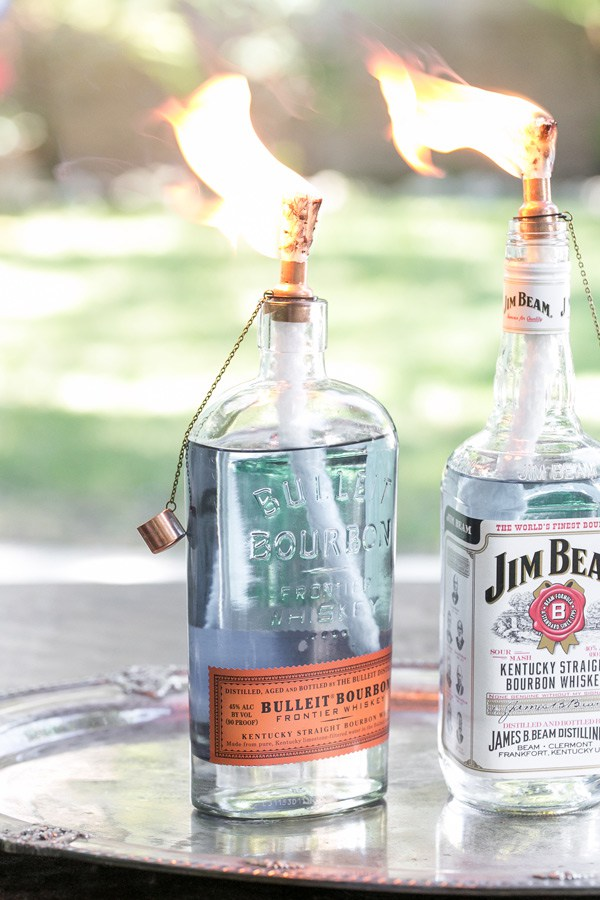 bottle tiki torches