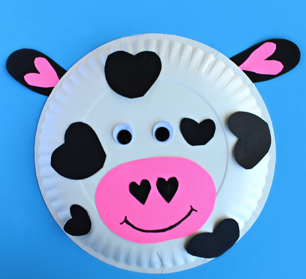paper plate cow