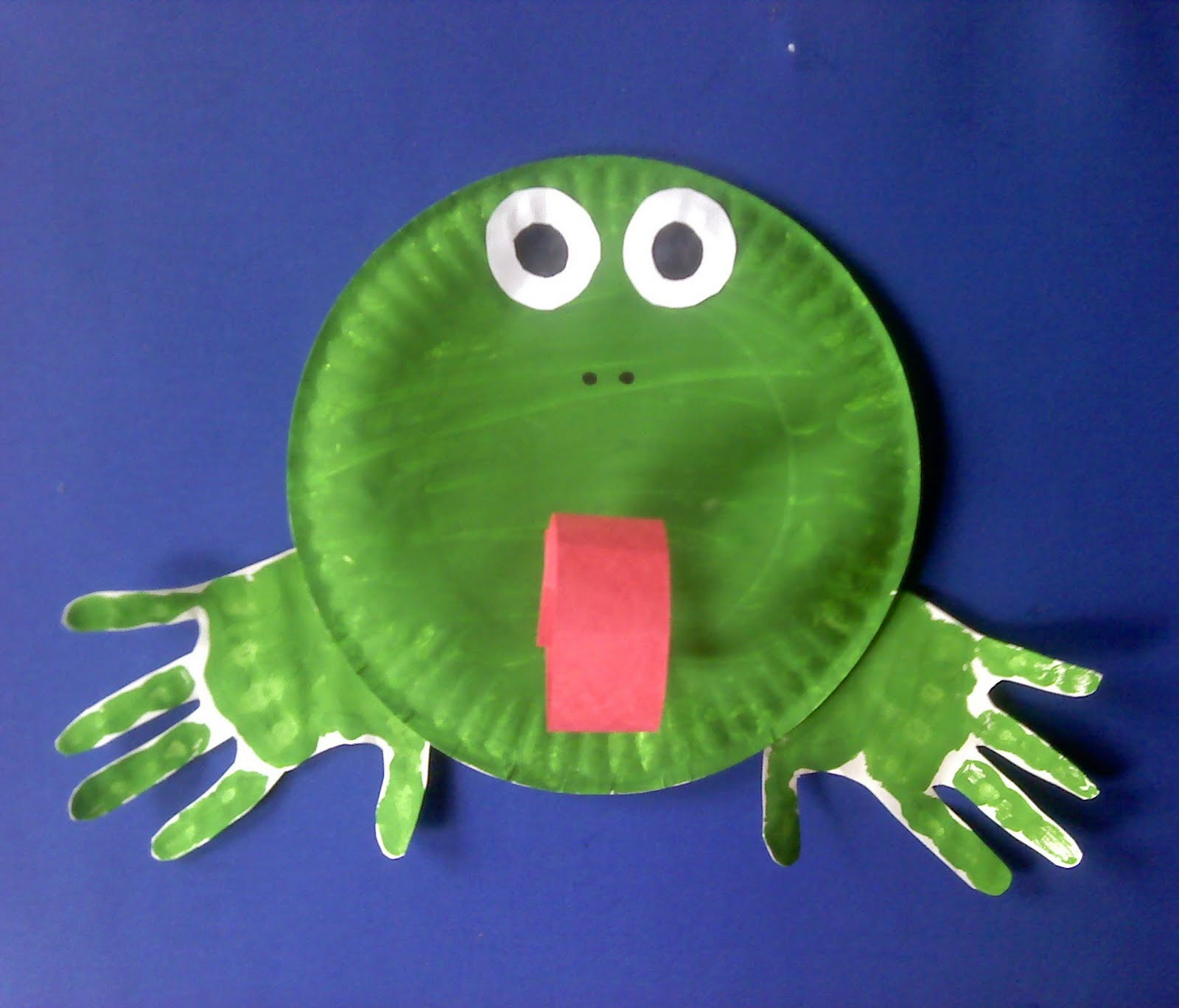 Paper Plate Frog & Paper Plate Frog u0026 ... Easy Paper Plate Frog Pouch Craft Sc 1 St ...