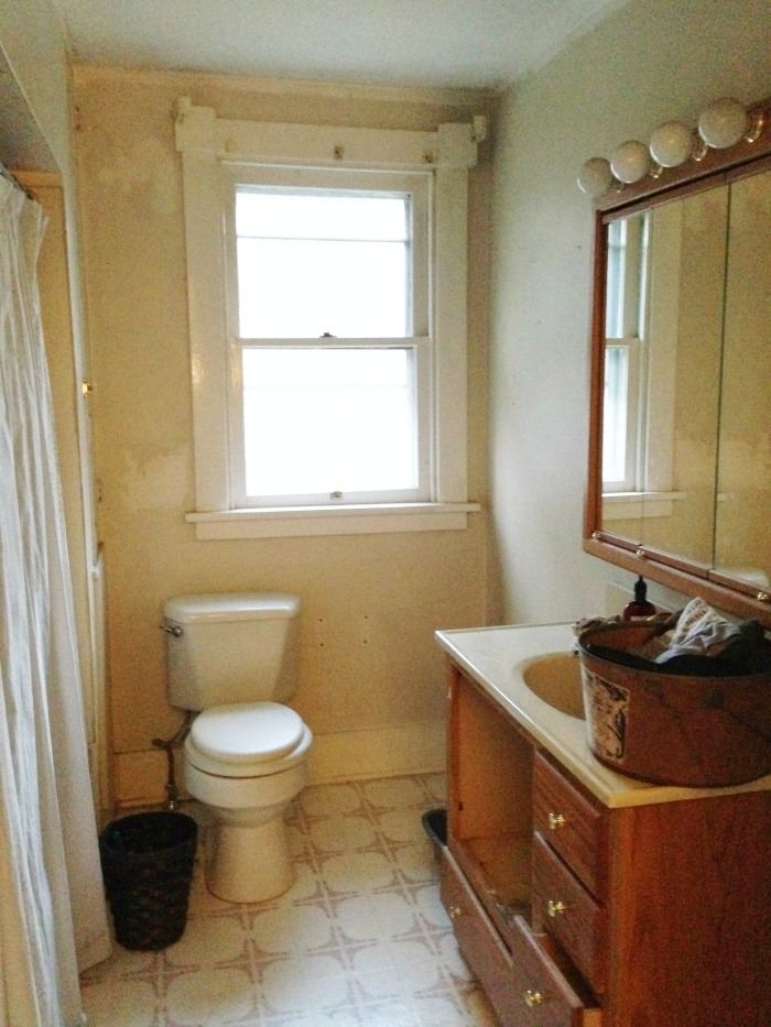 plain bathroom before