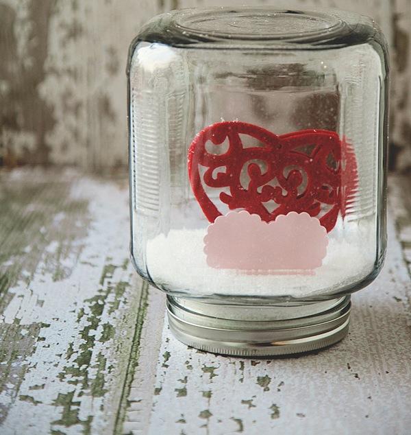 valentine snow globe