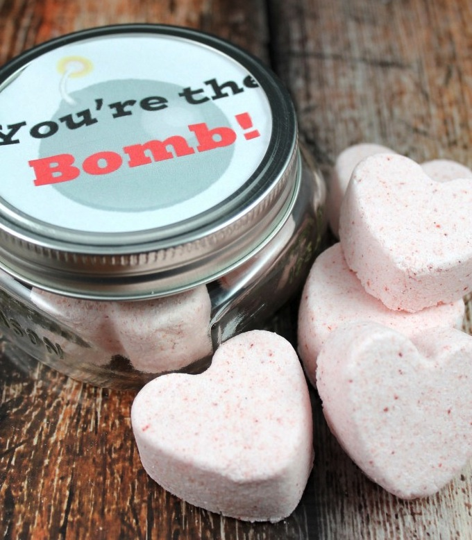 valentines bath bombs