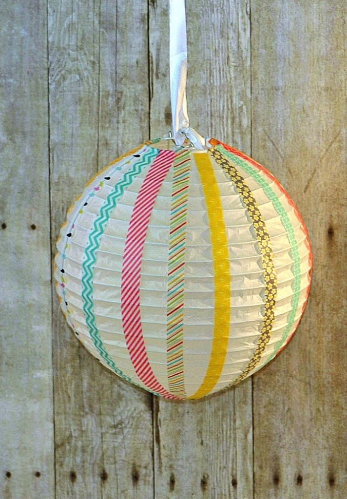 washi tape paper lanterns