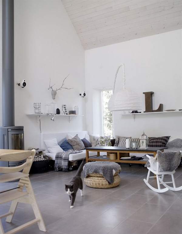 white scandinavian decor