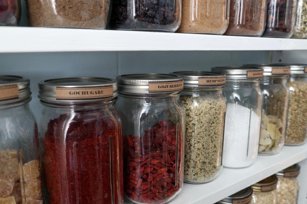 Pantry Organization Jars