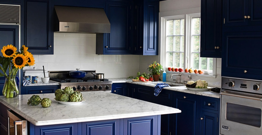 nautical blue kitchen