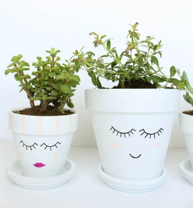 Painted Face Pots