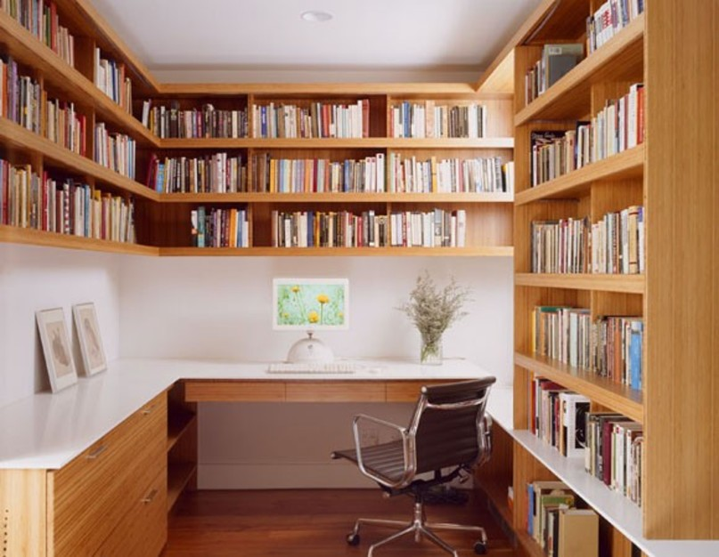 Create and innovate refreshing home office designs for Personal home library