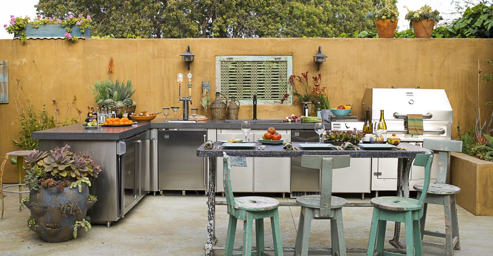 Dine Alfresco At Home Spectacular Outdoor Kitchen Ideas Reliable