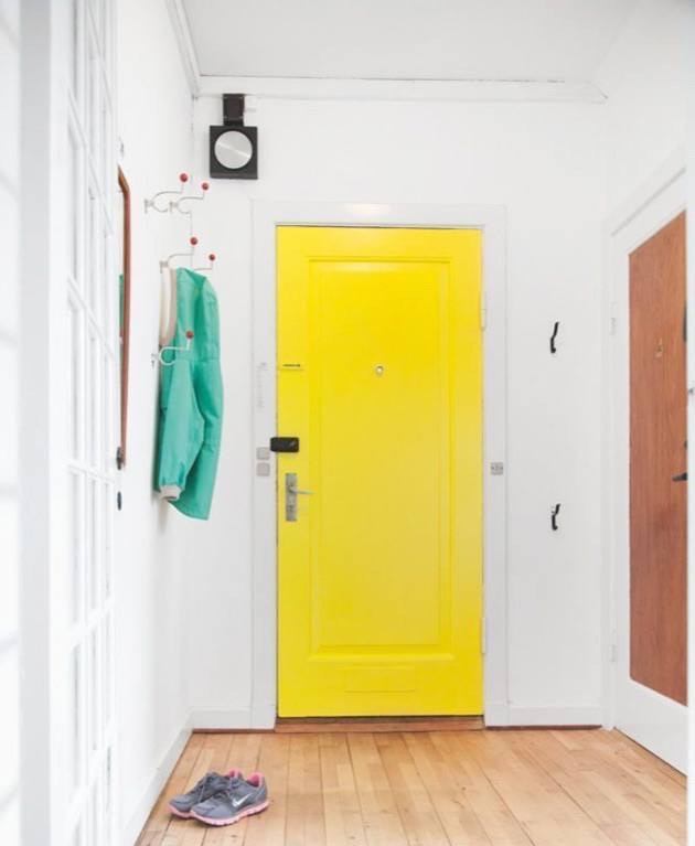 Make a Statement With a Bold Colored Door