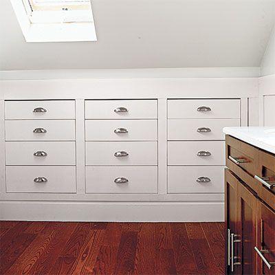 Recessed Dresser