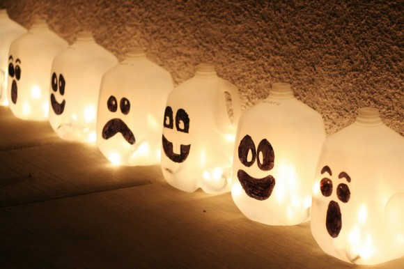 #2 Boo Bottle Lanterns