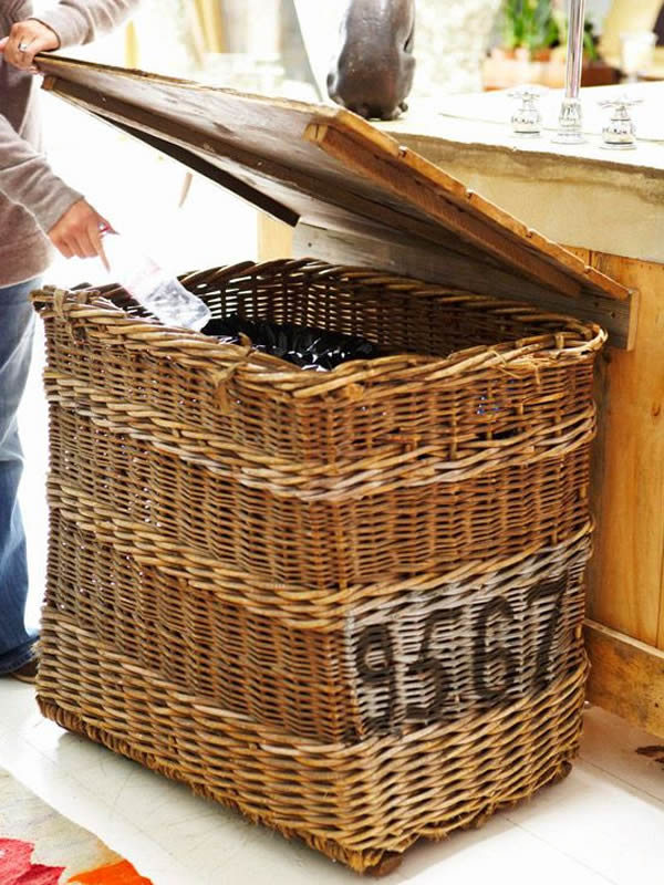 old basket for recycling