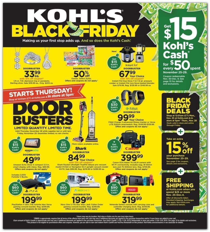 kohls black friday 2019 ad page 1