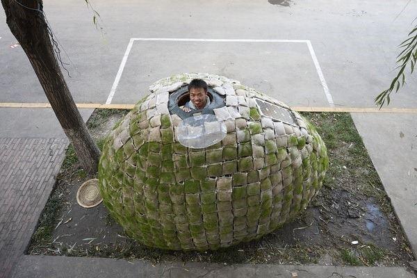 Sidewalk egg house