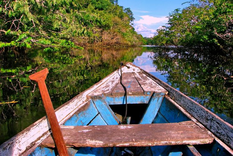 South America Canoe Down the Amazon River