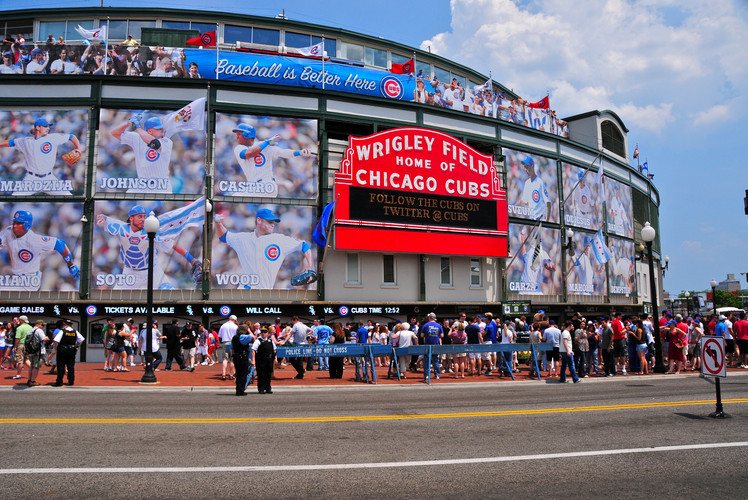 Watch a Cubs game at Wrigley Field