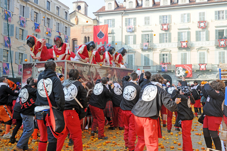 Battle of the Oranges, Ivrea Italy
