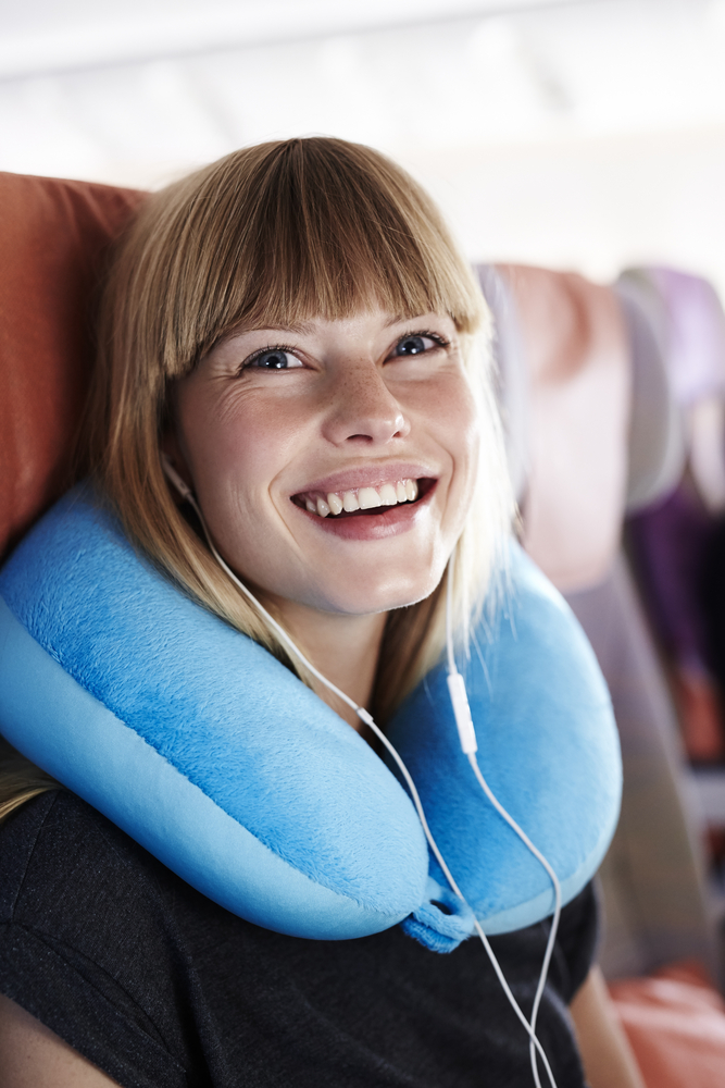 travel pillow, plane
