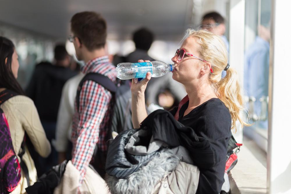 drinking water, queue, boarding
