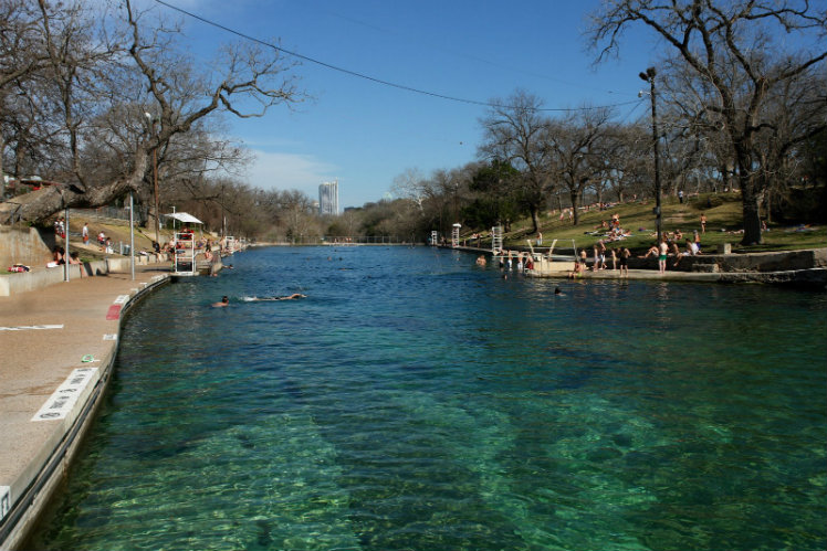 Take a dip into Barton Springs Pool