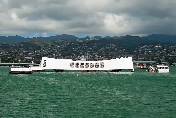 USS Arizona Memorial at Pearl Harbour