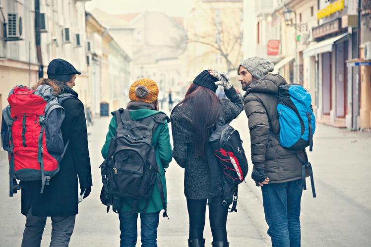 Wear backpacks with hidden pockets