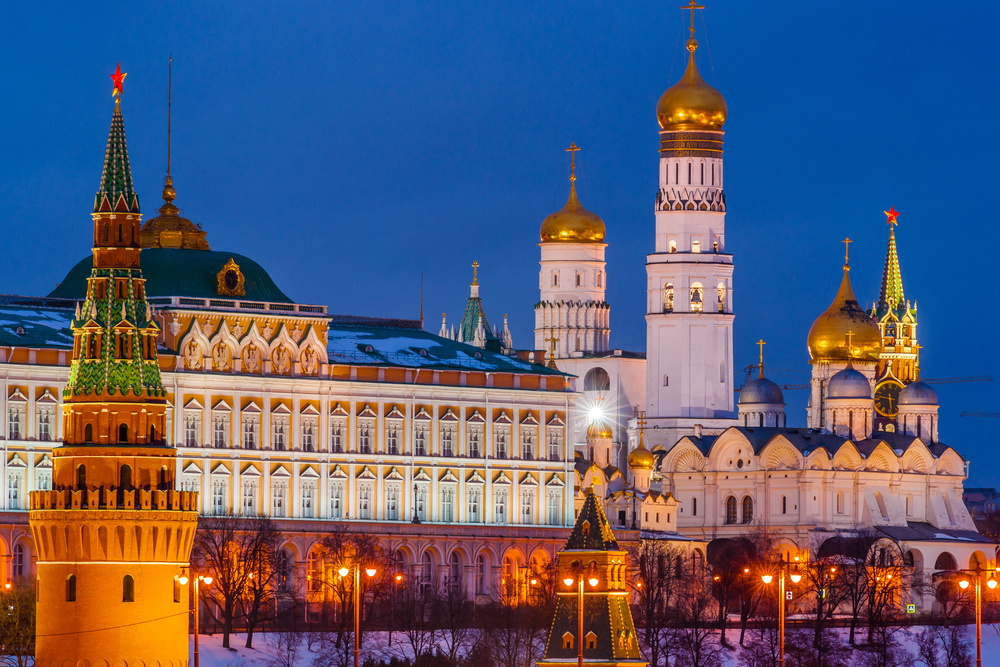 18. The Kremlin, Moscow, Russia