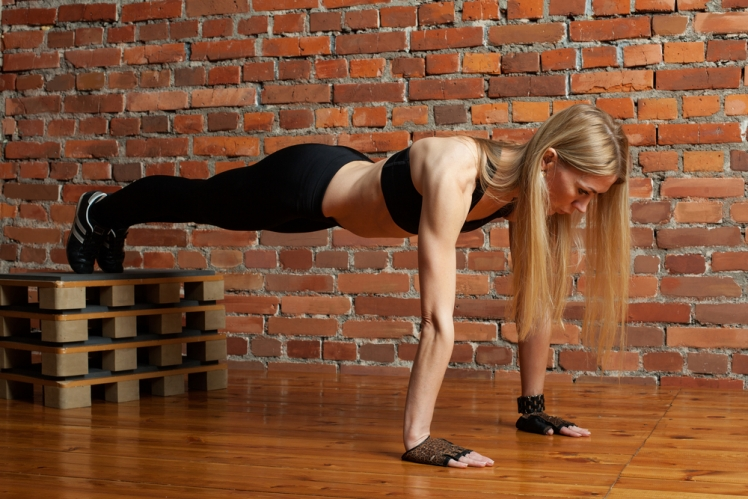 Decline push-ups