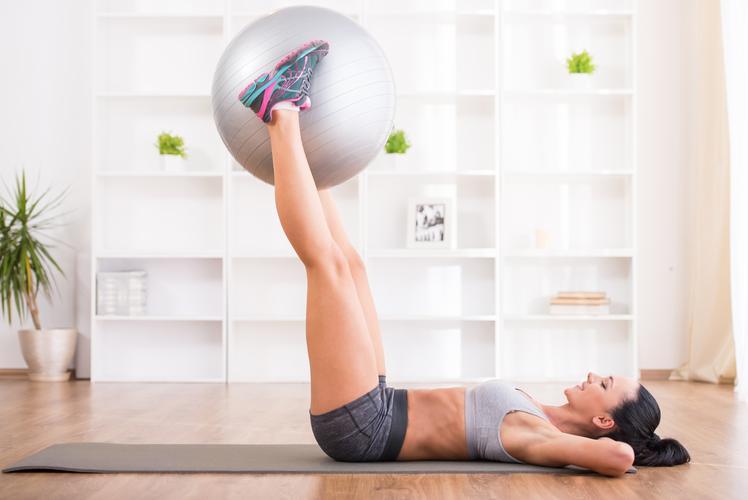 Exercise Ball Leg Lifts