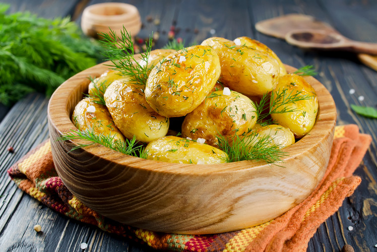 Herb crusted potatoes