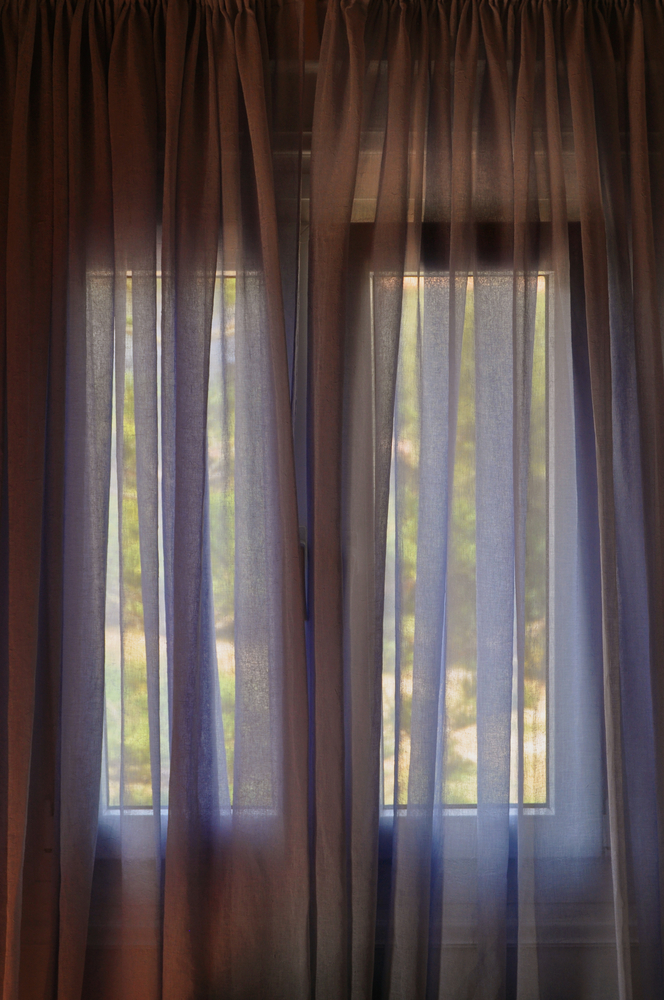 you'll sleep better if you keep curtains closed during hot days to keep out the heat