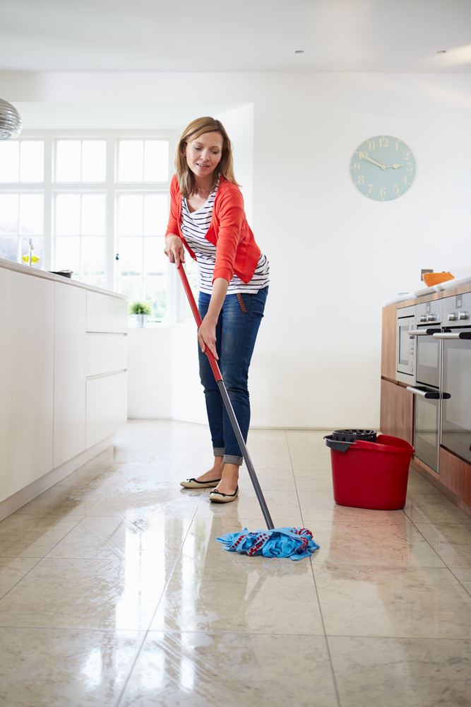 Mopping the Floor can burn calories