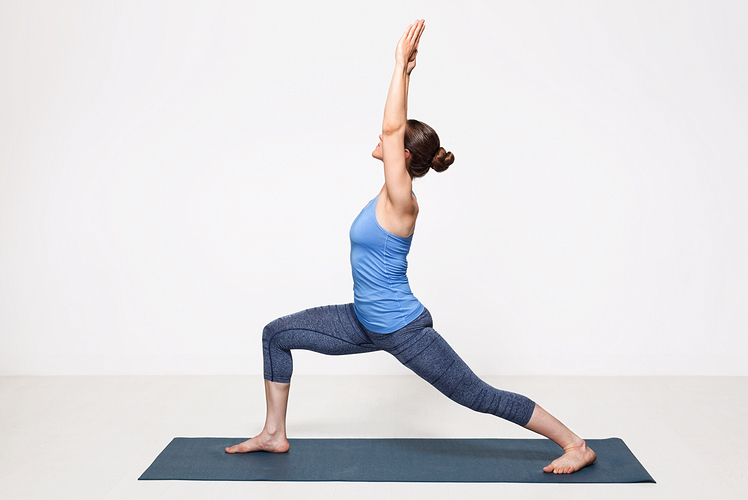 Example of warrior one yoga pose